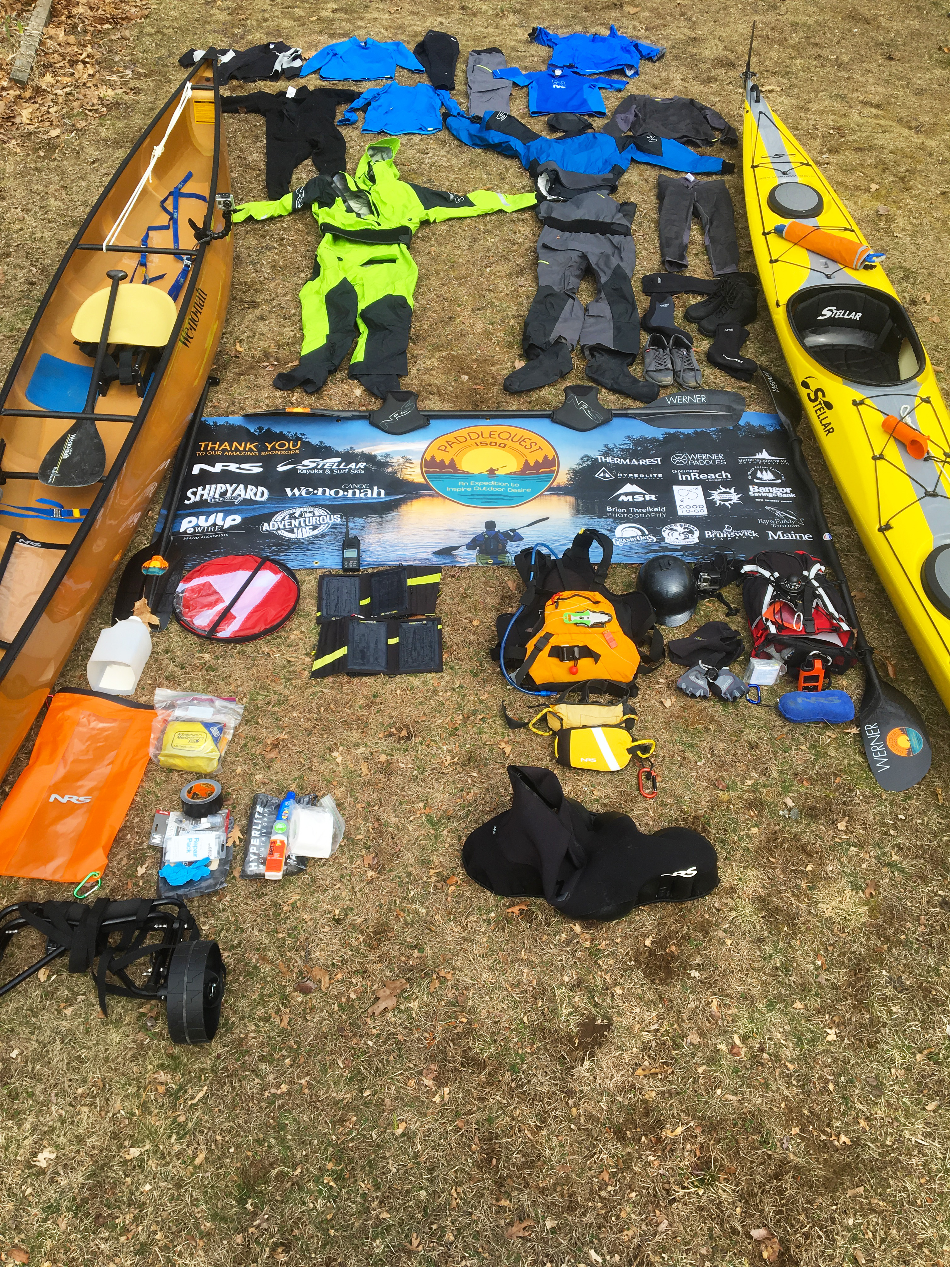 PaddleQuest 1500 Expedition Paddling & Camping Kit - Paddle